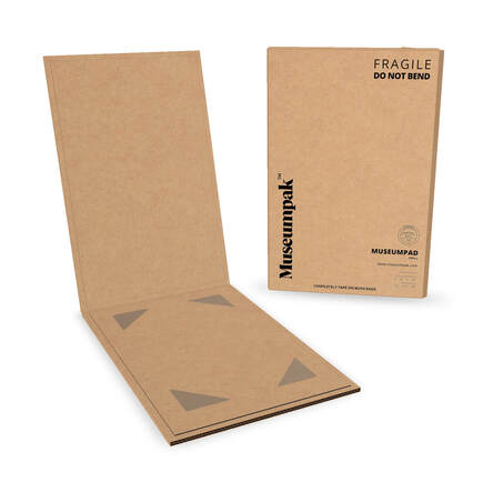 MuseumPad art shipping sleeves